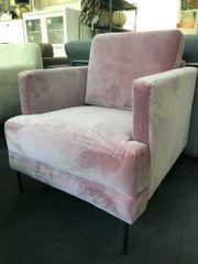 Samt-Sessel Fluente Ohrensessel Sitzmöbel Sofa