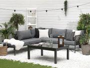 Lounge Set Aluminium 6-Sitzer Auflagen