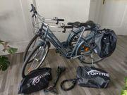 2 Damen Fahrrad Elops 120
