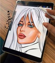 Pop Art Portrait nach Foto