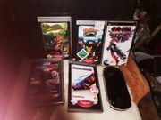 Playstation PSP mit 5 Spielen
