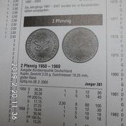 D-Mark 2 Pfennig 1972-1978 Komplette