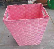 Wäschekorb aus Kunststoffgewebe Rosa