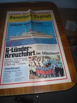 Prospekt Kreuzfahrt von 1977