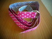 Gürtel Kindergürtel Kunststoff pink weiß