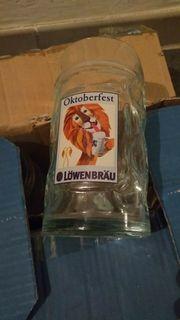 Bier Gläser Stölzle Oktoberfest LÖWENBRÄU