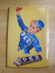 PEZ Nostalgie- Retro- Blechschild Werbeschild