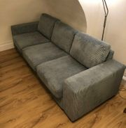 Mint hellblaues Flanell-Cord Sofa