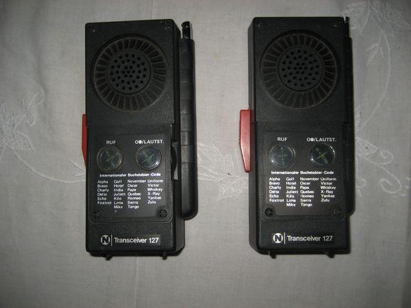 Funk-Handsprechgeräte Funkgeräte Sprechgeräte Neckermann Transceiver