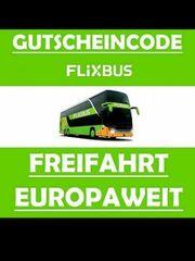 Flixbus Europa Freifahrt Gutschein Ticket