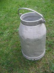 Alu-minium Milchkanne Nostalgie Antik Deko