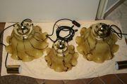 3 St Hochwertige Muranoglas Pendelleuchten