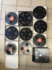 Konvolut 9 Tonbänder Tonbandspulen bespieltes