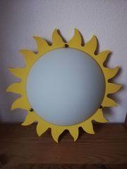 Deckenleuchte Sonne weißes Glas ca