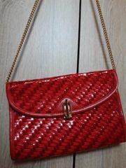 Damen Tasche Rot Gold Klein