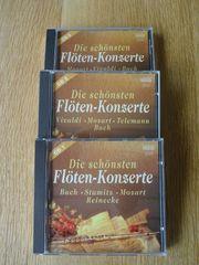 3 CDs Flötenkonzerte von Bach
