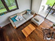 Couch Sofa mit Hocker Wohnlandschaft