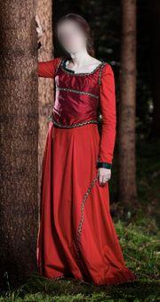 Mittelalter Fantasy Fasching Kleid rot
