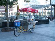 Mobiler Hot Dog Fahrrad Stand