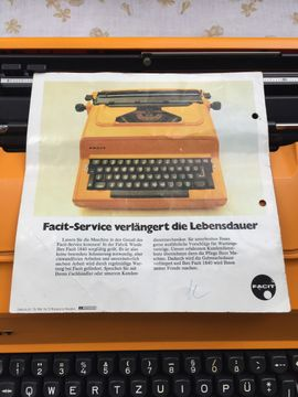 Bild 4 - Facit 1840 elektrische Schreibmaschine mit - Starnberg