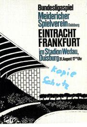 MSV Duisburg-Eintracht Frankfurt 1963 erstes