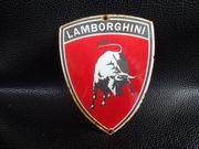Altes Werbe-Emailschild von Lamborghini