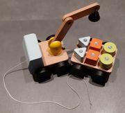 IKEA Mula Kran Holzspielzeug