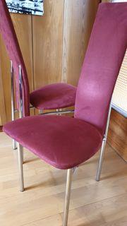 Esszimmerstühle in rot 4 Stück