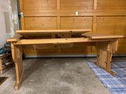 Schreibtisch mit Rollcontainer Kiefernholz