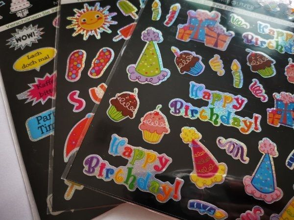 Sprechblasen Sticker Fotosticker Geburtstag Urlaub