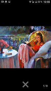 Wunderbares Gemälde Frau im Garten