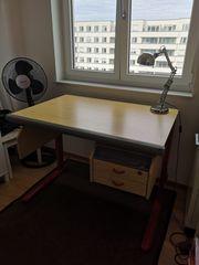 MOLL höhenverstellbarer Schreibtisch inkl Schreibtischlampe