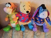 3 Kuscheltiere Winnie Pooh Tigger