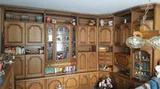 Wohnzimmer-Schrankwand Eiche-Rustikal