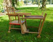 Alter Kinderhochstuhl aus Holz