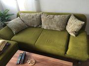 Couch 2er mit Schlaffunktion Hocker