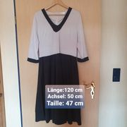 Kleid schwarz weiß Gr 48