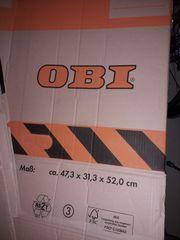Umzugskartons fast alle von OBI