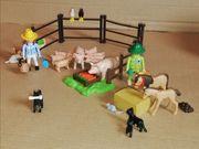 PLAYMOBIL Bauernhof Außengelände viele Tiere