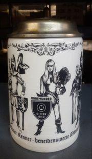 Bierkrug mit Deckel Dortmunder Ritterbier