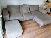 Sofa Couch braun beige gewebt