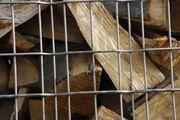 Brennholz - Kaminholz - Feuerholz in Gitterbox