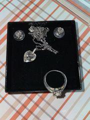 Schmuck Halskette Ohrringe und Ring