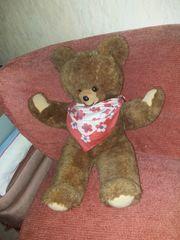 Kuschel Teddybär braun Vintage Style