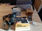 Nikon D3300 mit viel Zübehör