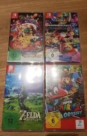 4 Verschiedene Nintendo Switch Spiele