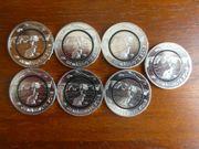 5EUR Münzen - 2016 bis 2019