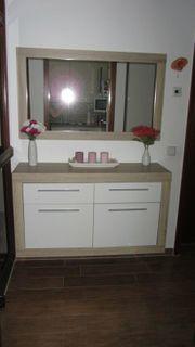 Kommode Sideboard Spiegel Sandeiche