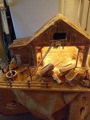 Weihnachtsgrippe aus Holz