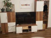 3 teilige Wohnzimmer Schrankwand weiß -
